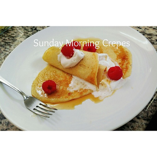 Sunday morning crepes